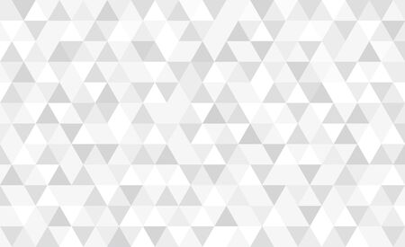 Vector monochrome triangular mosaic background. Abstract retro geometric pattern. Illustration