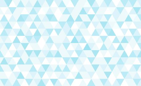 Vector light blue triangular mosaic background. Abstract retro geometric pattern. Illustration