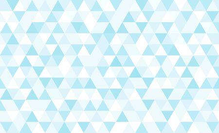 Vector light blue triangular mosaic background. Abstract retro geometric pattern. 일러스트