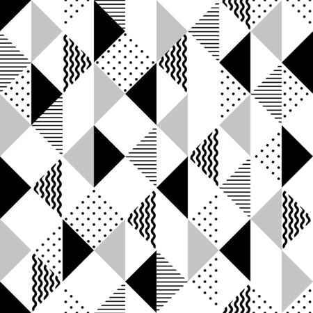 Vector geometric seamless pattern with triangles. Modern stylish abstract background. Illustration