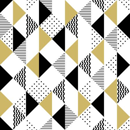 Vector geometric seamless pattern with triangles. Modern stylish abstract background. 일러스트