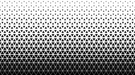Halftone triangle abstract background. Black and white vector pattern. EPS 10 Illustration