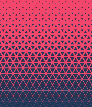 Halftone triangle abstract background. Trendy colorful vector pattern. EPS 10