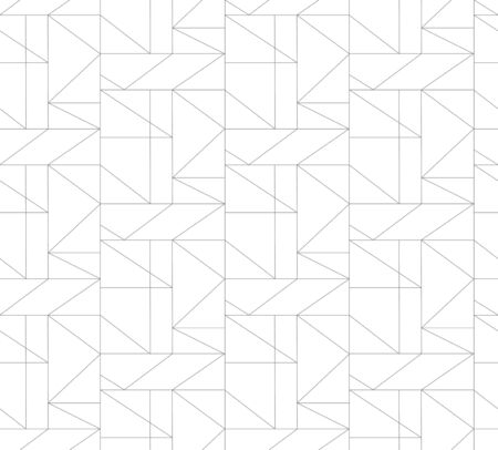 Seamless thin linear pattern. Abstract geometric low poly background. Stylish fractal texture. Illustration