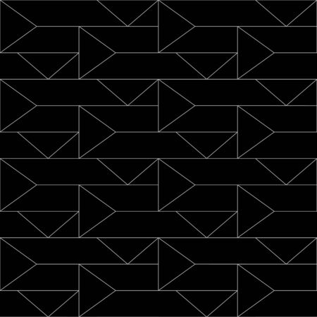 Seamless thin linear pattern with triangles. Abstract geometric low poly background. Stylish fractal texture.
