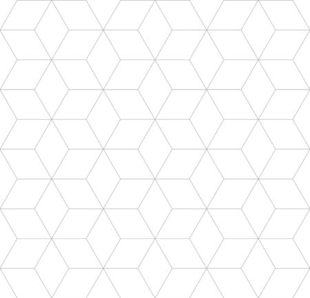 Vector seamless cubic pattern. Modern thin linear hexagon grid texture. Illustration