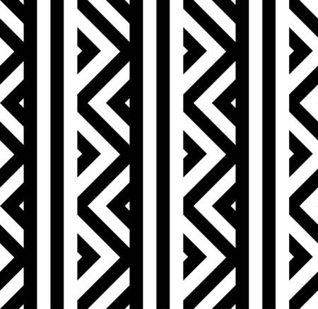 Vector geometric striped seamless pattern with triangles. Modern stylish zigzag texture. Illustration