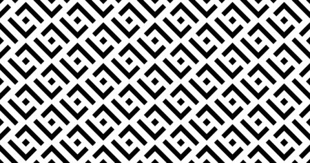 Ethnic vector geometric seamless pattern with squares. Monochrome stylish texture. Illustration