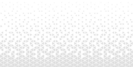 Halftone triangle abstract background. Monochrome geometric vector pattern. EPS 10 Illustration