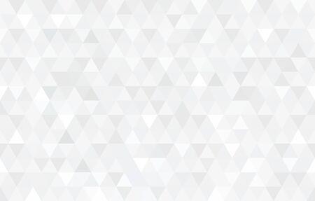 ベクトル白色の三角形のモザイク テクスチャ。抽象的な幾何学模様。現代の低いポリの背景。 ベクターイラストレーション