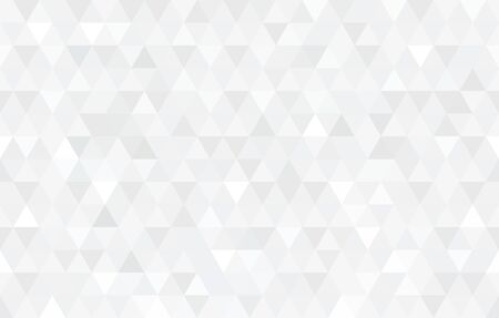 Vector white triangular mosaic texture. Abstract geometric pattern. Modern low poly background. Vetores