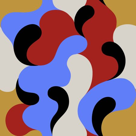 Modern pattern with multi color abstract shapes. Colorful abstract background.