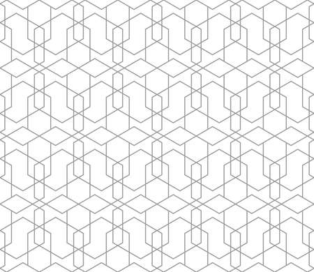 Seamless thin linear vector pattern. Abstract geometric background. Stylish fractal texture. Vektorové ilustrace