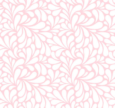 Vector seamless pattern with drops. Abstract floral background. Stylish monochrome texture.