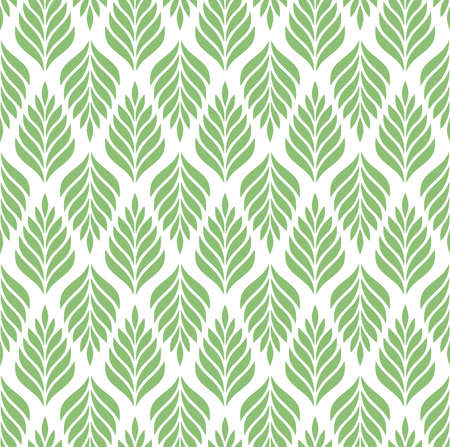 Vector geometric seamless pattern. Modern stylish floral background with leaves. 일러스트