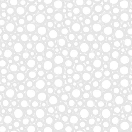 Hipster polka dot seamless pattern. Black and white abstract background with hand drawn bubbles. Vector monochrome texture.