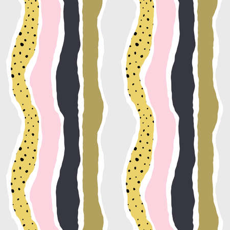 Striped multicolor seamless pattern. Colorful abstract background. Vector illustration, EPS 10.