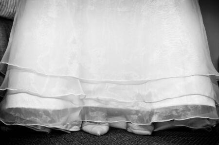 bridal gown: Vestido de novia y zapatos
