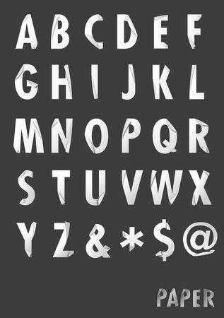 Paper style alphabet Stock Photo