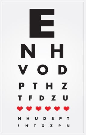 Eye Chart Stock Vector - 9670473