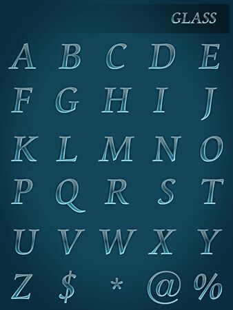 Glass style alphabet   Stock Photo