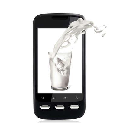 3D Smartphone Stock Photo