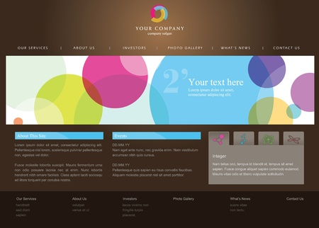 web browsing: Web site design template
