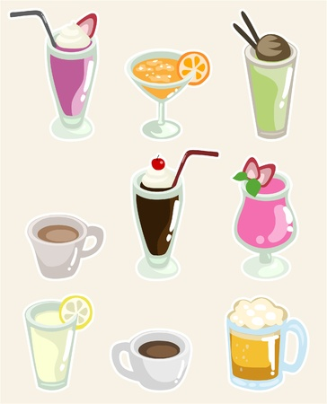 likeur: Set van dranken Stock Illustratie