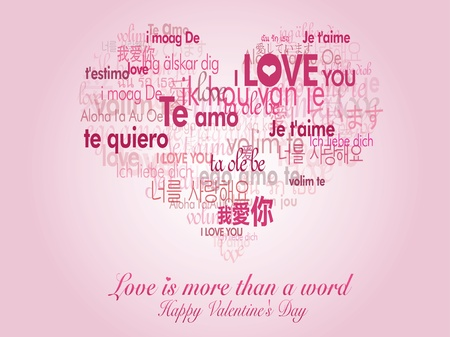 Love is more than a word Stock Vector - 10396503