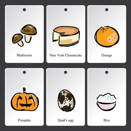 Food illustration vocabulary card Vector