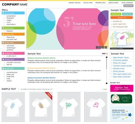 site web: Web site design modello