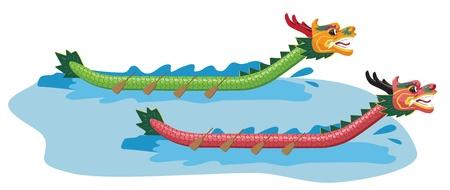 bateau de course: Illustration de Dragon Boat Festival