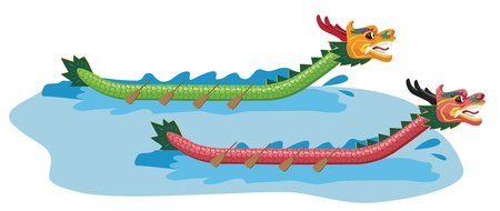 Illustration of Dragon Boat Festival Vector