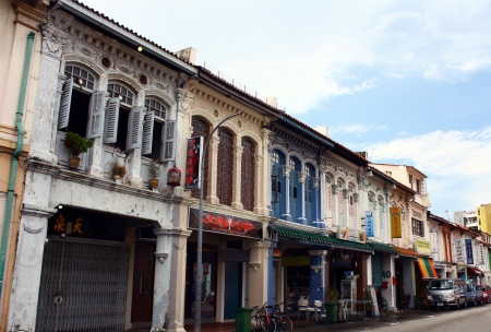 Beautiful and traditional housing in Little India, Singapore