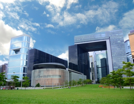 View of Central Government Complex  Stock Photo
