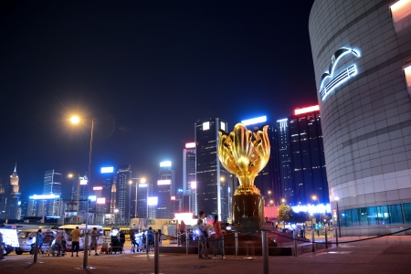 Golden Bauhinia Square in Hong Kong Editorial