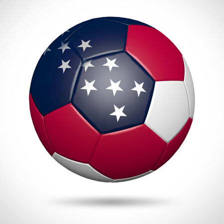 3d ball: 3D soccer ball with USA flag element and original colors  Stock Photo