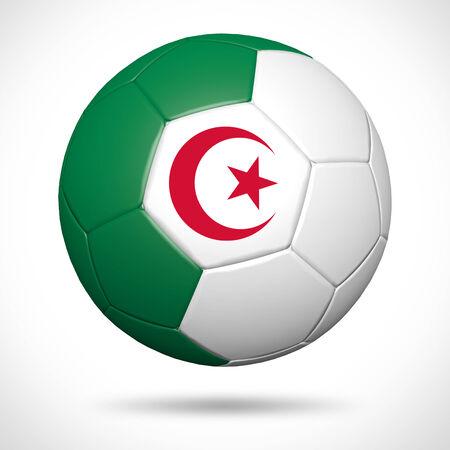 algeria: 3D soccer ball with Algeria flag element and original colors