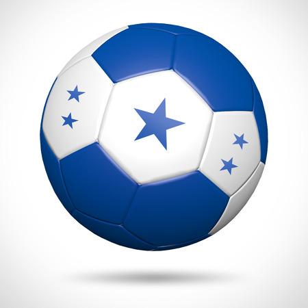bandera honduras: Balón de fútbol 3D con Honduras elemento bandera y los colores originales