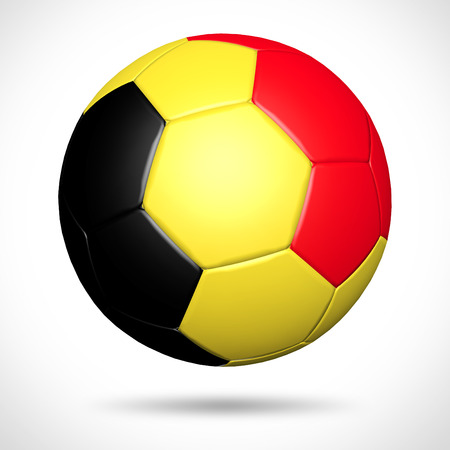 3D soccer ball with Belgium flag element and original colors