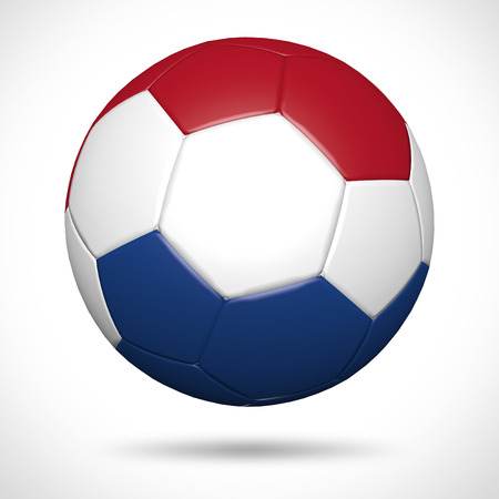 3D soccer ball with Netherlands flag element and original colors  Stock Photo