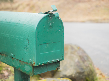 American mailbox in green