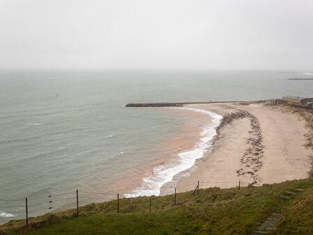 Heligoland on a windy, rainy day
