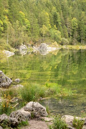 View on stones at the Eibsee