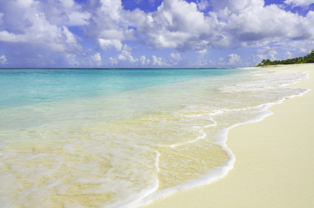 Shore line at Shoal Bay in the Caribbean island of Anguilla.