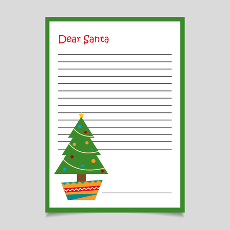 Christmas Letter with Tree  イラスト・ベクター素材