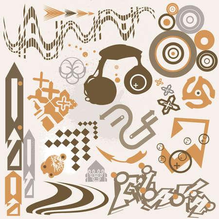 retro styled: Design Grunge Elements Illustration