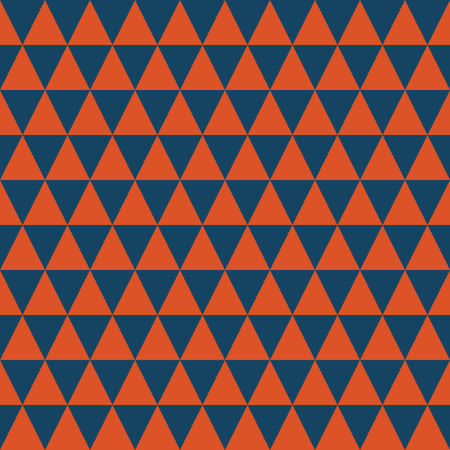 Dark blue and orange triangles seamless pattern. Coordinate for my Lets go glamping! collection. Stock Photo