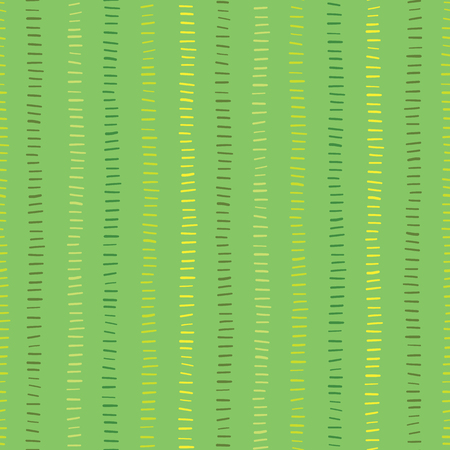 Seamless vector background green hand drawn vertical lines Hand drawn strokes. Green hues textured backgound. Abstract geometric lines background. Doodle background. Surface pattern design.