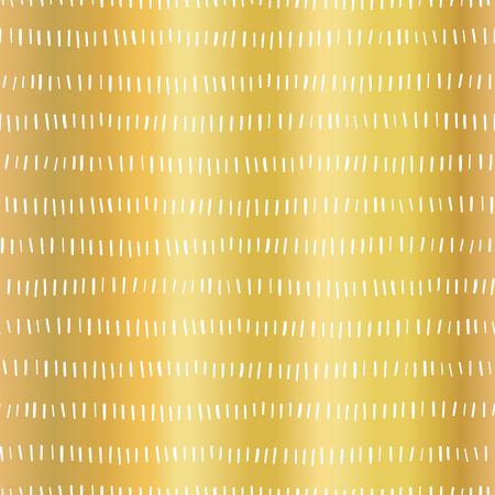 Gold foil stripes seamless vector pattern. Vertical white strokes in horizontal lines on golden background. Elegant design for digital paper, web banner, wedding, party invite, birthday celebration